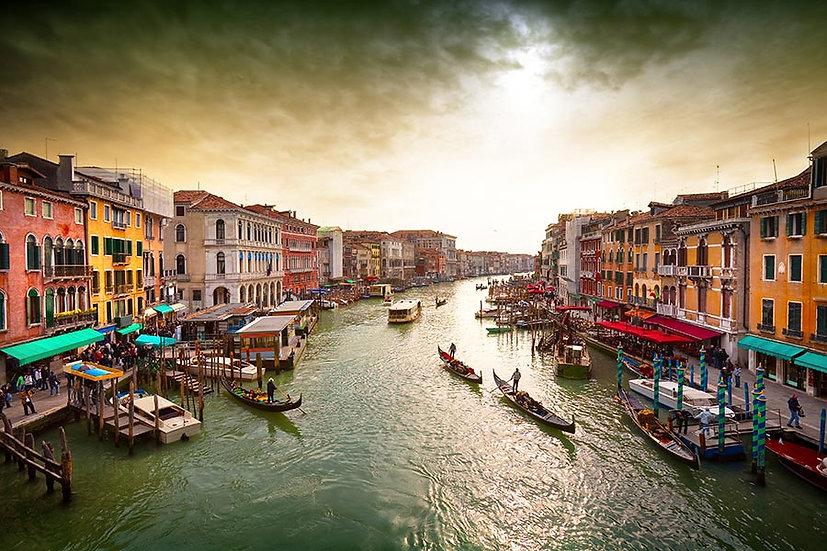 3D İtalya Venedik Duvar Kağıdı | Venedik Gün Batımı Duvar Kağıtları