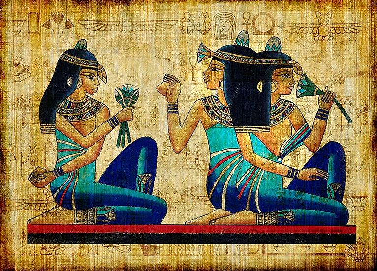 3 Boyutlu Parşömen Duvar Kağıtları | Efsane Eski Mısır Parşömen Duvar Kağıtları