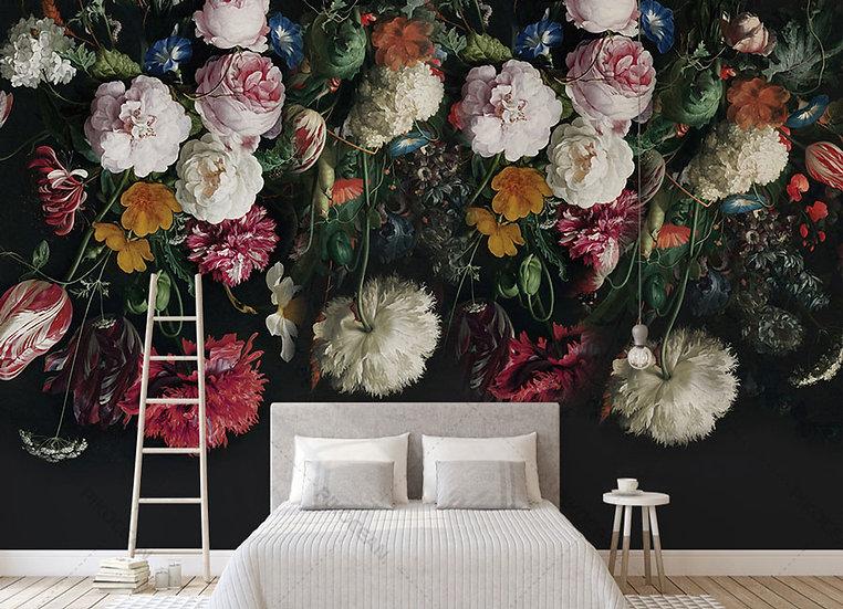 3 Boyutlu Duvar Kağıtları | Çiçek Resim Duvar Kağıdı | Mersin