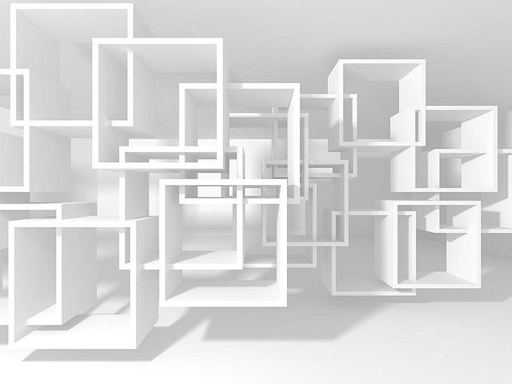 3 Boyutlu Küp Hat Duvar Kağıtları | 3D Kare Tasarım Duvar Kağıtları