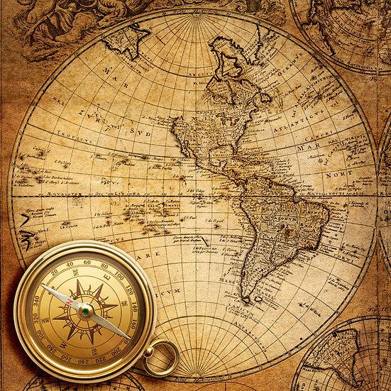 Piri Reis Haritası | 3D Piri Reis Haritası Duvar Posteri | Niğde