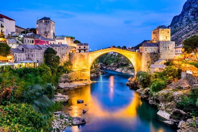 Mostar Köprüsü Duvar Kağıdı | Mostar Köprüsü 3 Boyutlu Duvar Kağıtları