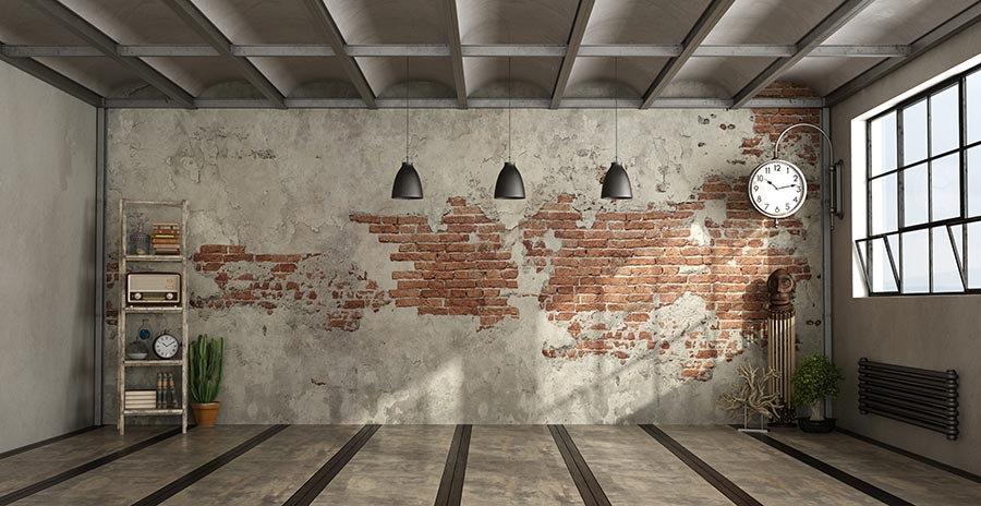 3 Boyutlu Beton Tuğla Duvar Kağıtları | Taş Tuğla Dekor 3D Duvar Kağıtları
