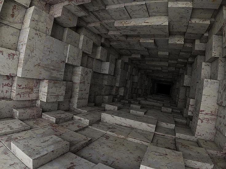 Düzensiz Küpler 3D Duvar Kağıdı | Full HD Derin Uçurum Duvar Kağıtları