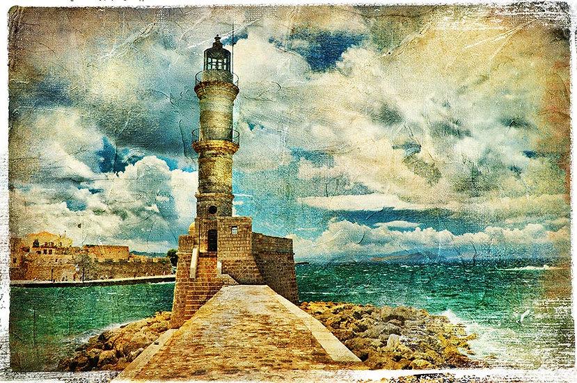 3 Boyutlu İtalya Duvar Kağıtları | Muhteşem Deniz Feneri Duvar Kağıtları