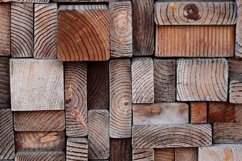 3D Ahşap Şekilleri Duvar Kağıdı | Çeşitli Ağaç Kütükleri Duvar Kağıtları