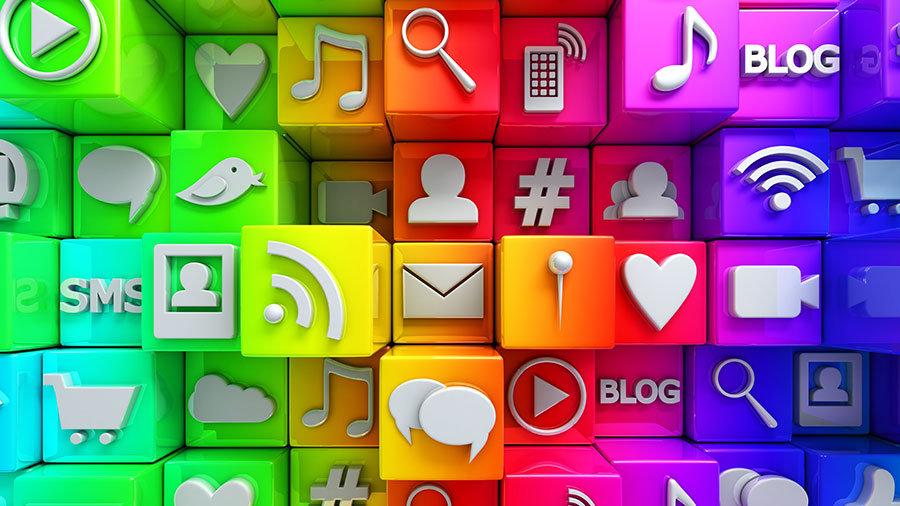 HD Sosyal Medya İcon Duvar Kağıtları   3 Boyutlu İcons Duvar Kağıtları