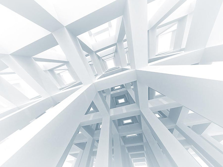 Modern Beyaz Hat Duvar Kağıtları | 3d Mimari Arka Plan Duvar Kağıtları