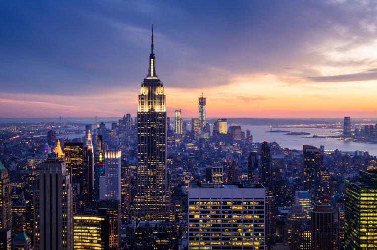 New York Gece Duvar Kağıdı   3 Boyutlu New York Manzara Duvar Kağıdı