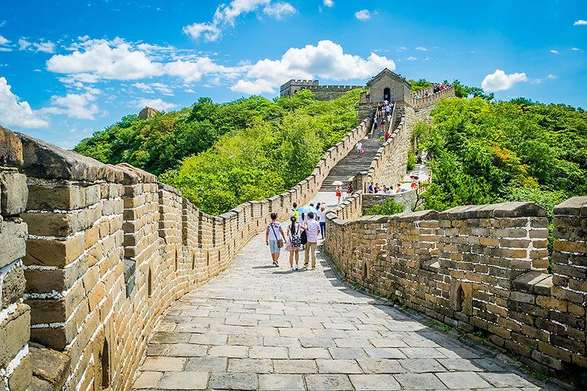 3 Boyutlu Turizm Duvar Kağıtları | Dokulu Çin Seddi Yolu Duvar Kağıtları