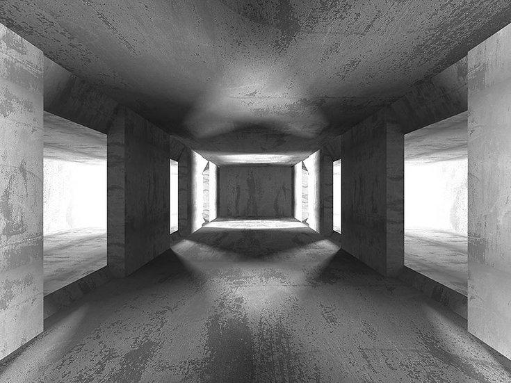 3 Boyutlu Tünel Duvar Kağıdı | Full HD Beton Tünel Duvar Kağıtları
