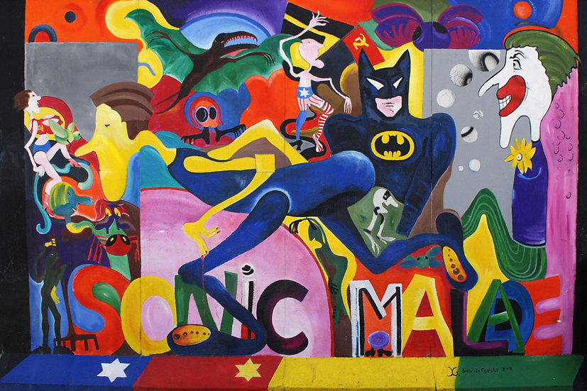Batman Graffiti Duvar Modelleri | 3D Oyun Salonu Duvar Çeşitleri | Samsun