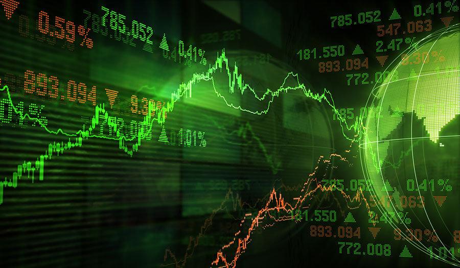 3 Boyutlu Duvar Kağıtları   Dokulu Lazer Borsa Değerleri Duvar Kağıtları