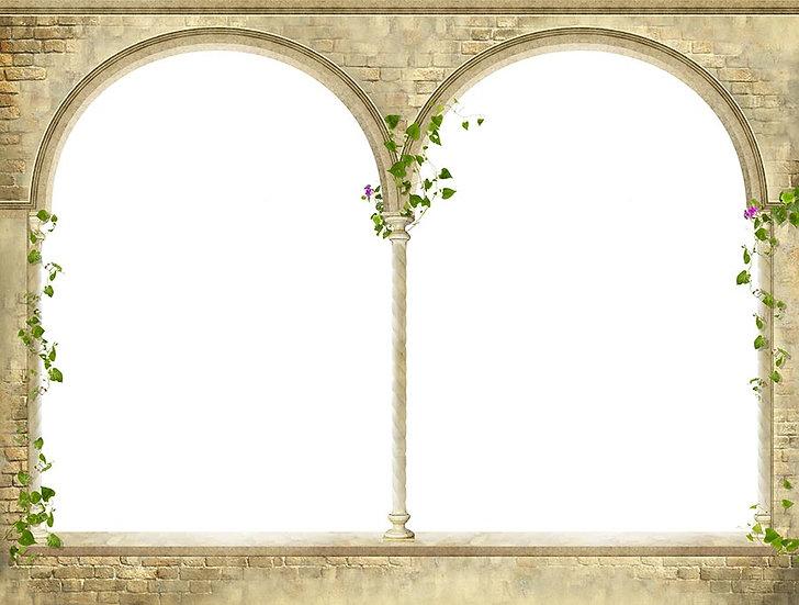3 Boyutlu Duvar Kağıtları | Full HD Altın Pencere Taş Duvar Kağıtları