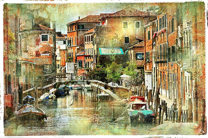 3D Eski Balıkçı Köyü Duvar Kağıdı | Full HD Eski Venedik Duvar Kağıtları