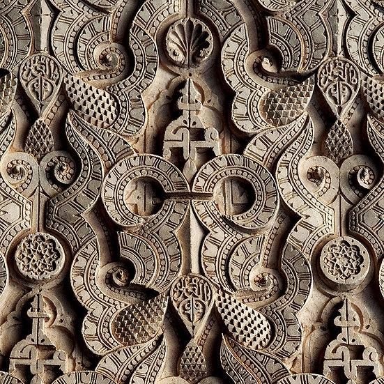 3 Boyutlu Duvar Kağıdı Motifli Gümüş Kapı | Eski Kapı Duvar Kağıdı