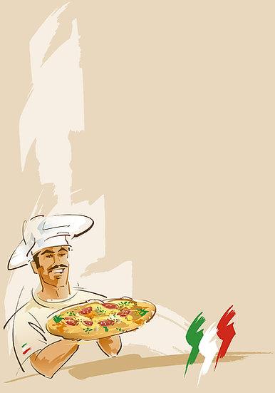 3D Pizzacı Dükkanı Duvar Kağıdı | Full HD Enfes Pizza Duvar Kağıtları