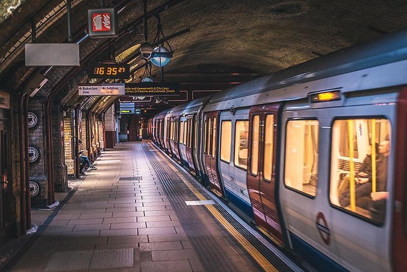 3 Boyutlu Duvar Kağıtları HD | Dokulu Tren İstasyonu Duvar Kağıtları