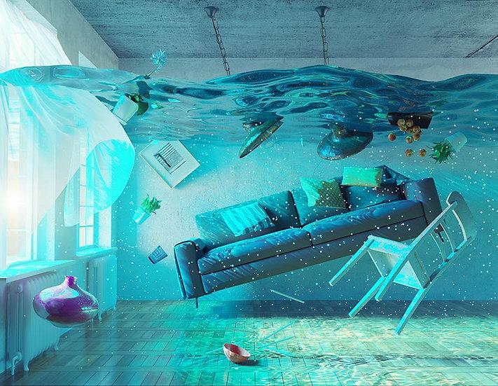 3D Sualtı Ev Montajı Duvar Kağıdı | HD Koltuk Arkası Duvar Kağıtları | Bremen