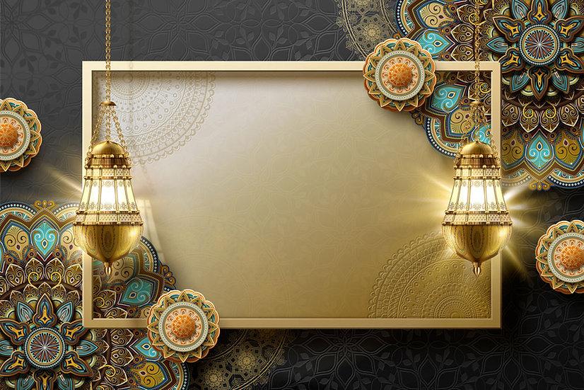 İslami Motifli Duvar Kağıtları | 3D Motifli Duvar Posterleri | 3D Duvar Kağıdı