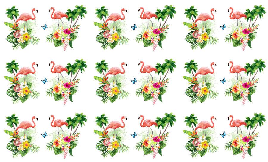 3D Çiçek Deseni Duvar Kağıdı | Muhteşem Flamingo Desenli Duvar Kağıtları