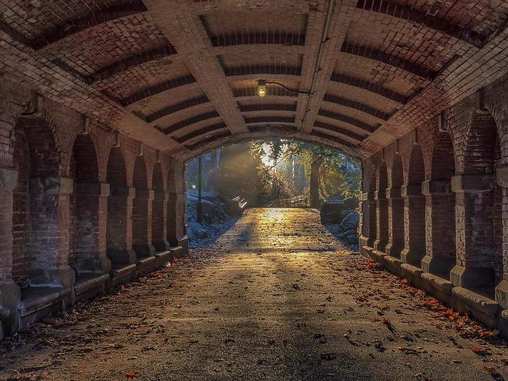 Tünel Duvar Kağıdı | 3 Boyutlu Tünel Manzara Duvar Kağıdı | Tünel Manzara Duvar