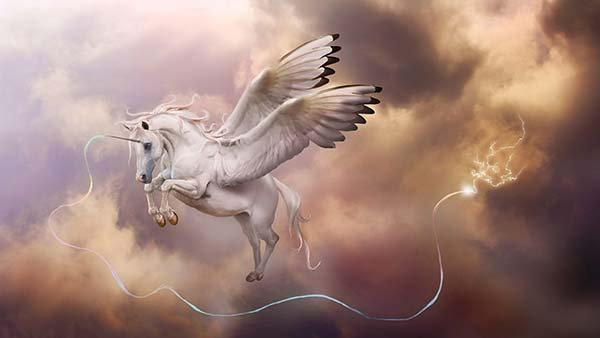 3D Animasyon Pegasus Duvar Kağıdı | HD Tek Boynuzlu At Duvar Posteri