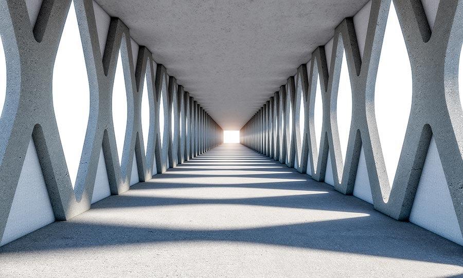 3 Boyutlu Simetri Tünel Duvar Kağıtları | Ufuk Tünel Duvar Kağıtları