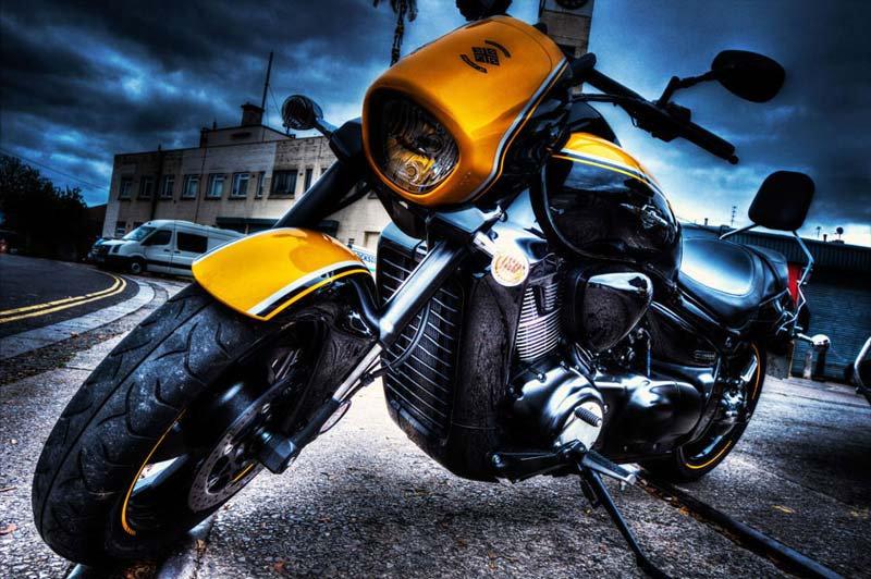 Motor Duvar Kağıdı Modelleri | 3D Chopper Motosiklet Duvar Kağıtları