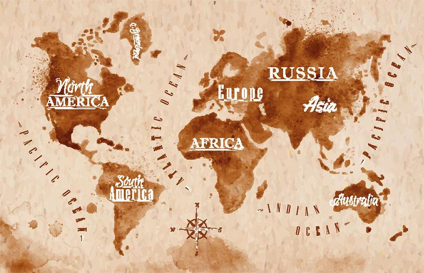 Eskitme Harita Manzaralı Duvar Kağıtları Modelleri
