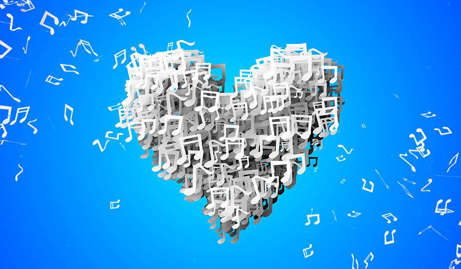 3 Boyutlu Müzik Sevgisi Duvar Kağıtları   Dokulu Müzik Aşkı Duvar Kağıtları