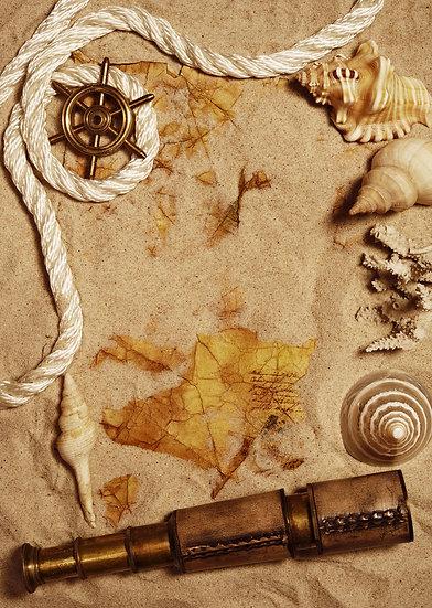 Eski Parşomen Haritası | 3D Eski Parşomen Haritası Duvar Posteri | Erzincan