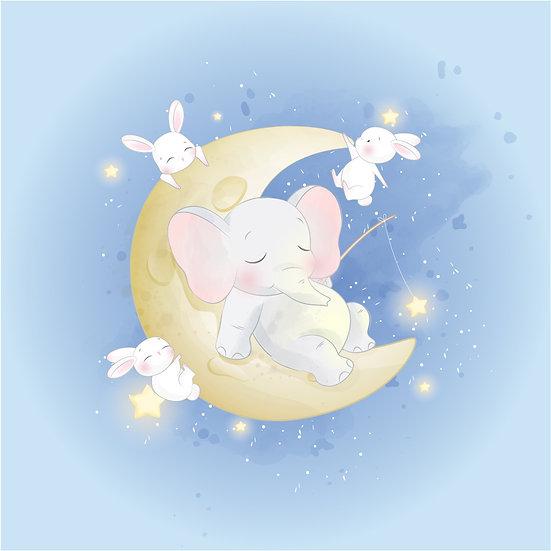 Bebek Odası Fil Tavşan Duvar Kağıdı | Filli Bebek Odası Duvar Kağıtları | Konya