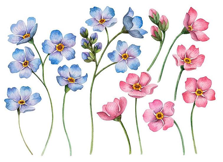 3 Boyutlu Duvar Kağıtları | Muhteşem Kesme Çiçekler Duvar Kağıtları