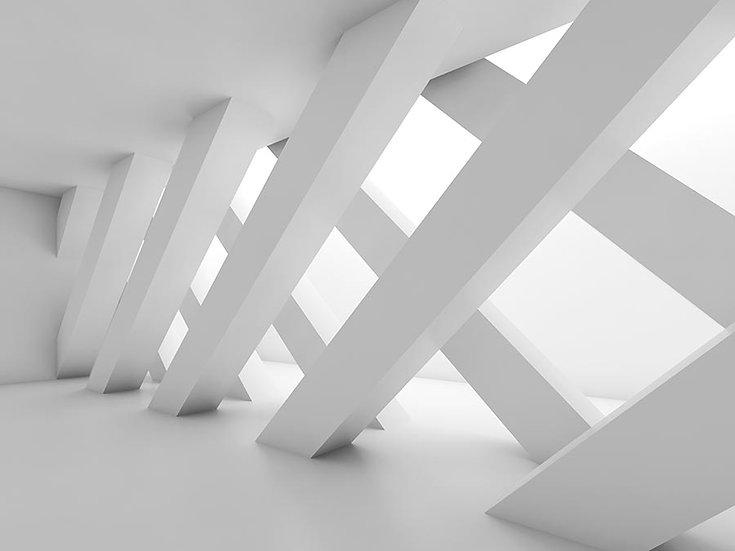 3 Boyutlu Bina Hatları Duvar Kağıdı | Muhteşem Mimari Duvar Kağıtları