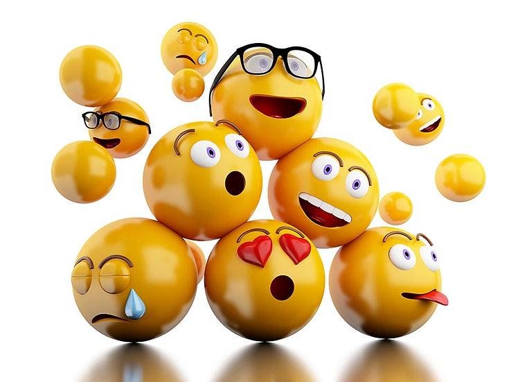 3 Boyutlu Emojiler Duvar Kağıdı | HD Muhteşem Yüz İfadeleri Duvar Kağıtları