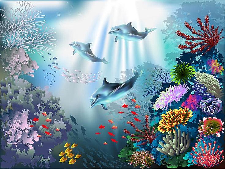 3 Boyutlu Duvar Kağıtları | Full HD Denizaltı Hayvanlar Duvar Kağıtları