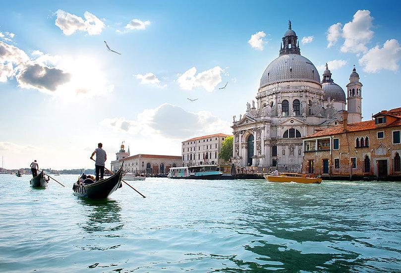 3 Boyutlu Venedik Manzaralı Duvar Kağıtları Modelleri