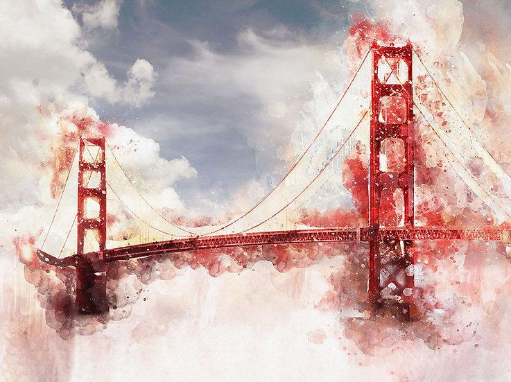 Golden Gate Köprüsü Duvar Kağıdı   Golden Gate Köprü Resimli Duvar Kağıdı