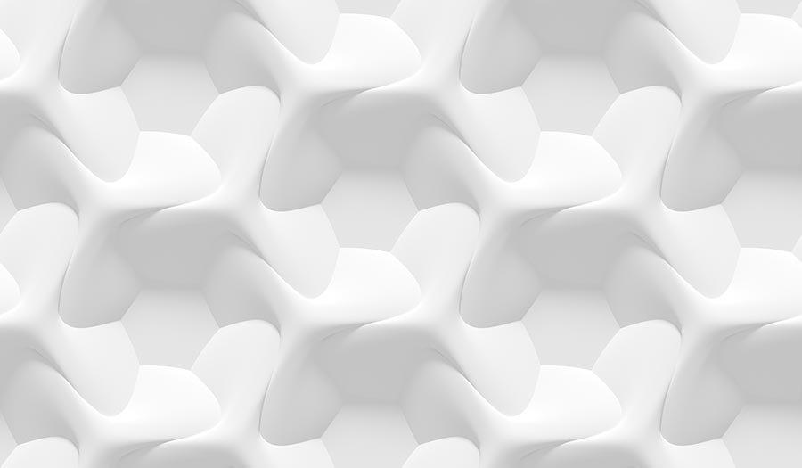 3D Beyaz Altıgen Hat Duvar Kağıdı | Full Hd Altıgen Duvar Kağıtları
