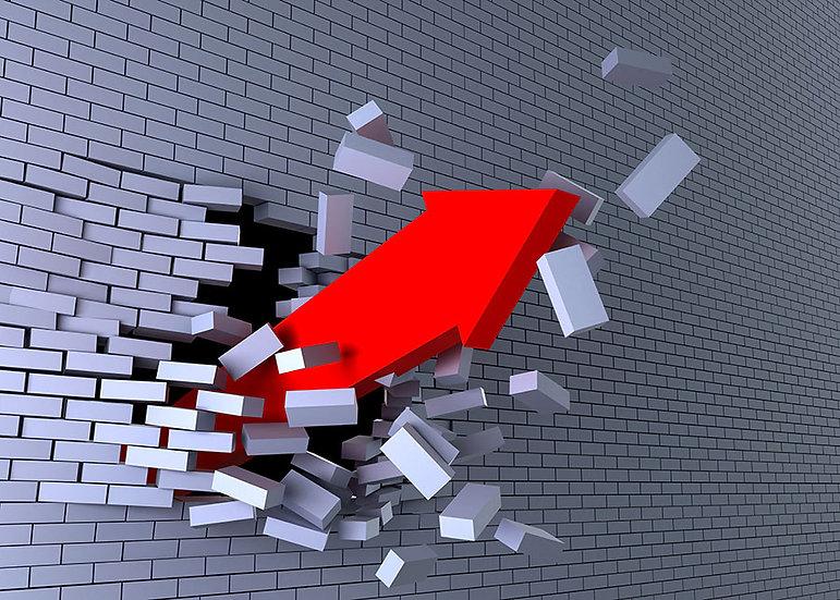3D Duvarı Kıran Ok Duvar Kağıdı | 3D Kırık Tuğla Tasarım Duvar Kağıtları