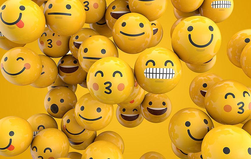 3 Boyutlu Emoji Duvar Kağıtları   Dokulu Yuvarlak Emojiler Duvar Kağıtları
