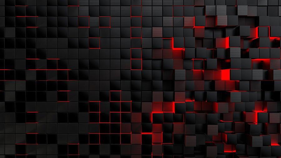 3D Kırmızı Siyah Küp Duvar Kağıdı | Hd Kabartmalı Küpler Duvar Kağıtları