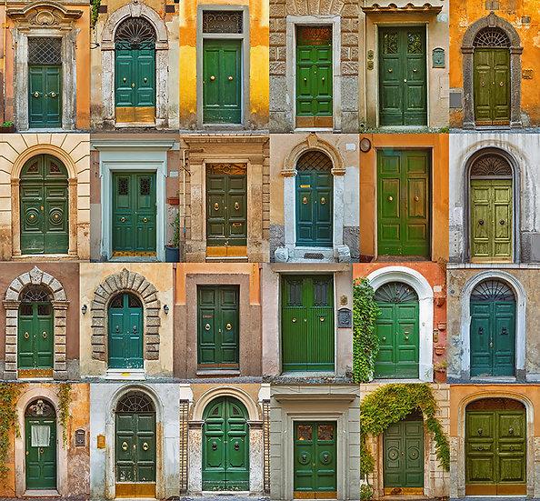 Esi Dış Kapılar 3 Boyutlu Duvar Kağıdı Modelleri