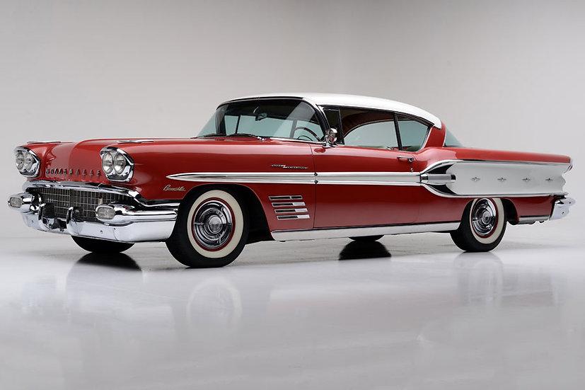 1958 Pontiac Duvar Kağıtları | 3 Boyutlu Tarihi Eser Arabalar Duvar Kağıtları