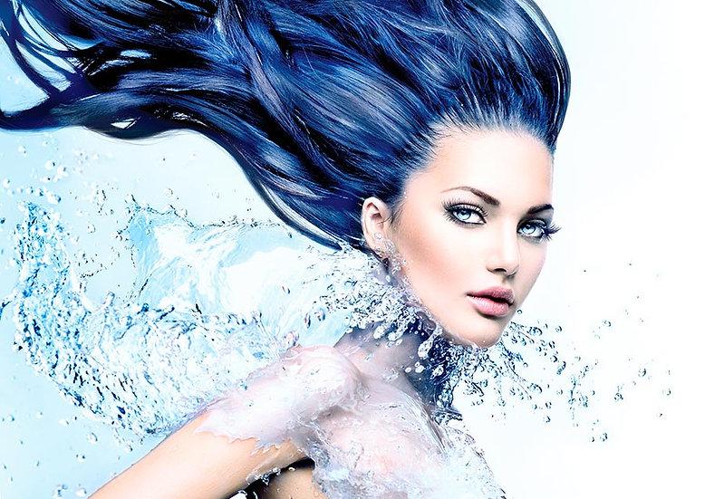 3 Boyutlu Boyalı Saç Duvar Kağıtları   Saç Tasarım Modelleri Duvar Kağıtları