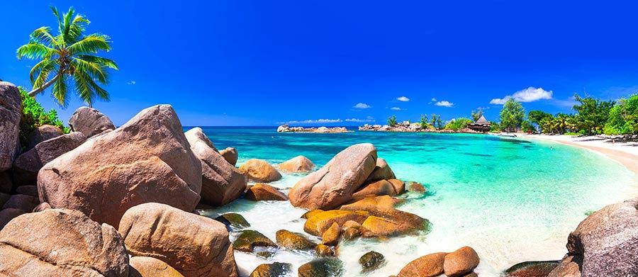 3 Boyutlu Duvar Kağıtları | Full HD Ada Sahili Taslı Kumsal Duvar Kağıtları