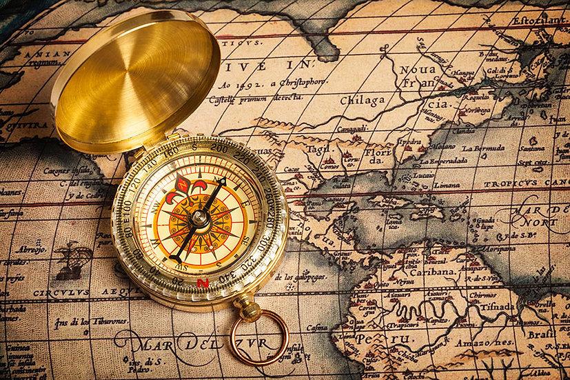 Eskitme Dünya Haritası Duvar Kağıdı