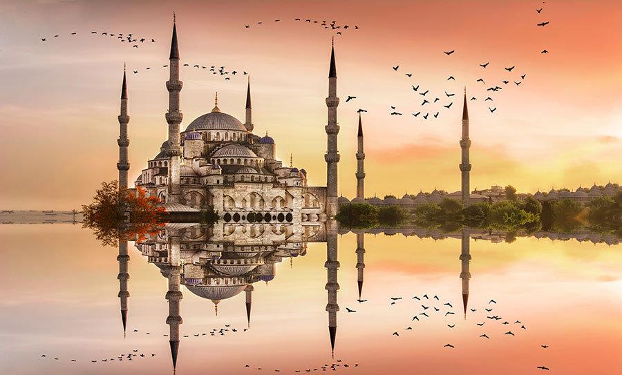 Süleymaniye Camii Özel Tasarım Duvar Kağıtları | 3D İstanbul Duvar Kağıdı