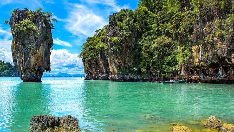 3D Deniz ve Okyanus Duvar Kağıdı   Muhteşem Tayland Adası Duvar Kağıdı